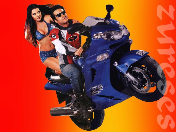 Fardeen Khan,Celina hot bike pics