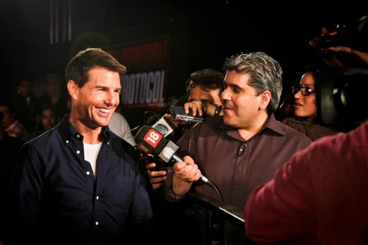 Tom Cruise with media persons (again)