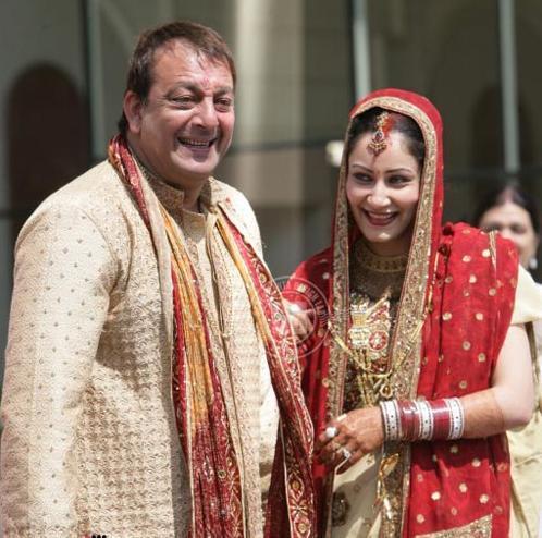 Manyata Dutt and Sanjay Dutt  wedding photo
