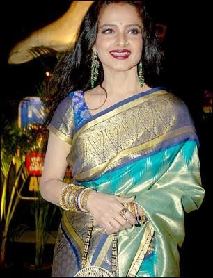 Rekha beautiful look in saree