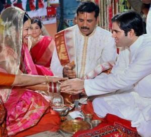 Varun Gandhi and Yamini Roy wedding latest still