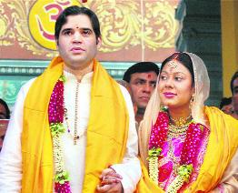 Varun Gandhi and Yamini Roy wedding photos