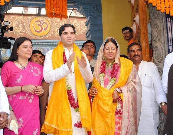 Yamini Roy,Varun Gandhi wedding pics