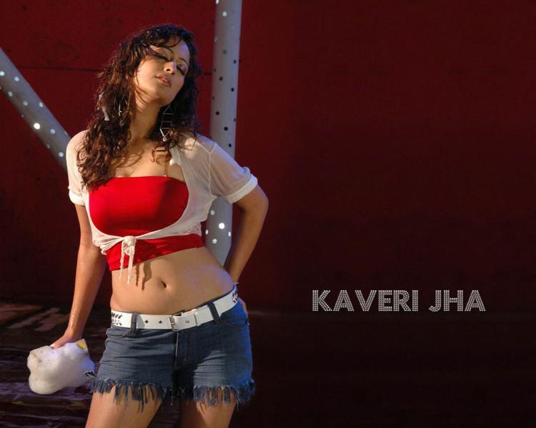 Kaveri Jha  hot navel show