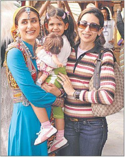 Karishma Kapoor with her Child