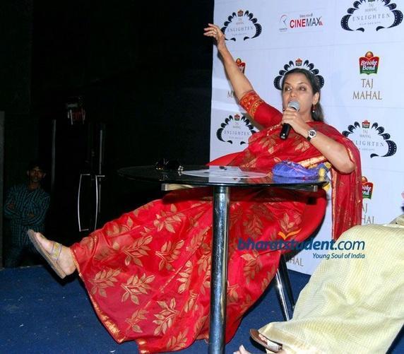 Shabana Azmi red disaster