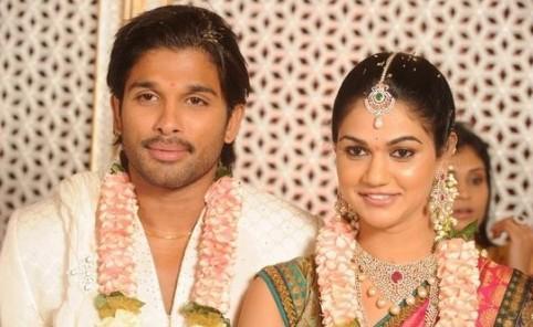 Allu Arjun and Sneha Reddy latest picture