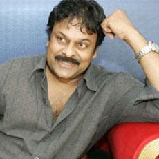 Chiranjeevi smilling face look