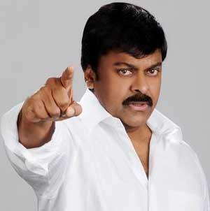 Chiranjeevi angry action stills