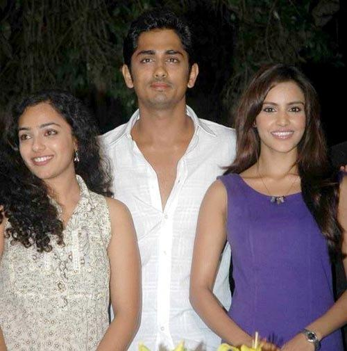 Siddharth,Nithya menon and Priya anand stills