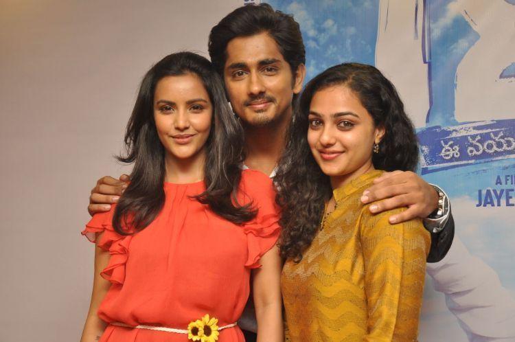 Siddharth,Nitya Menon and Priya latest pics