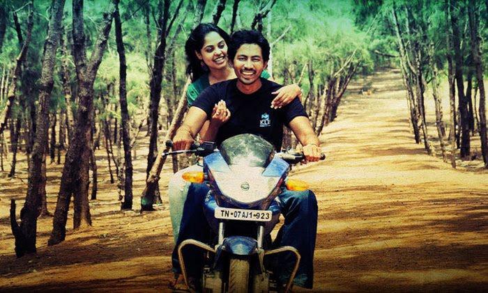 Veppam film Nani and Nithya Menon bike stills