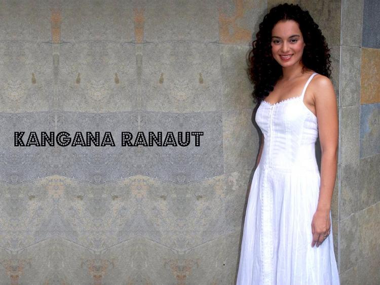 Kangana Ranaut in white dress latest wallpaper