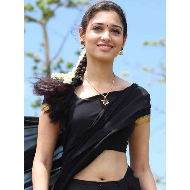 Tamanna Bhatia balck color dress hot cute picture
