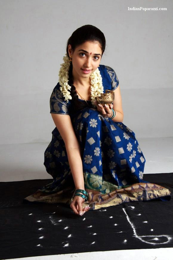 Vengai movie blue color midi hot tamanna bhatia sweet