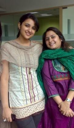 Parineeti Chopra with a Fan