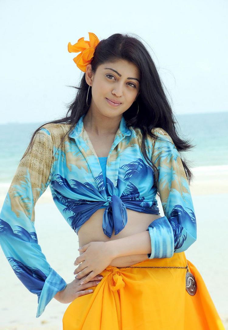 Udhayan movie pranitha yellow color dress stills