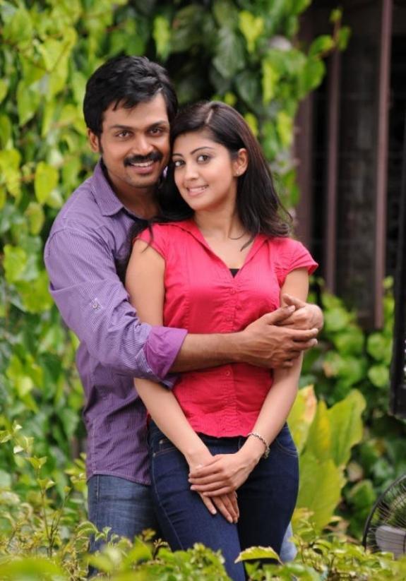 karthi and pranitha hot stills in saguni movie