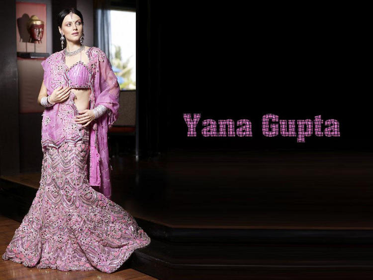 Yana Gupta in pink color saree wallpaper