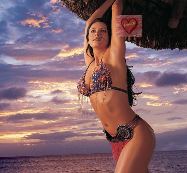 Yana Gupta hot bikini wallpaper
