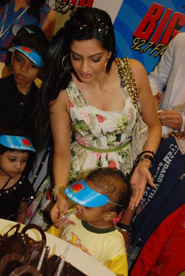 Sonam Kapoor with kids