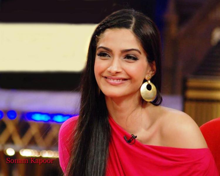 Sonam Kapoor  with open smile