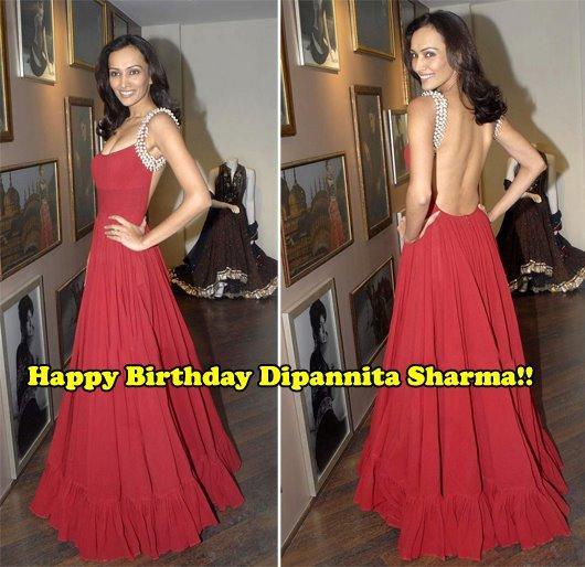Backless Beauty Dipannita Sharma
