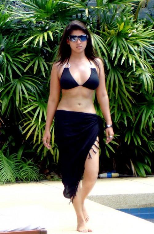 Nayanthara in bikini sexy navel show