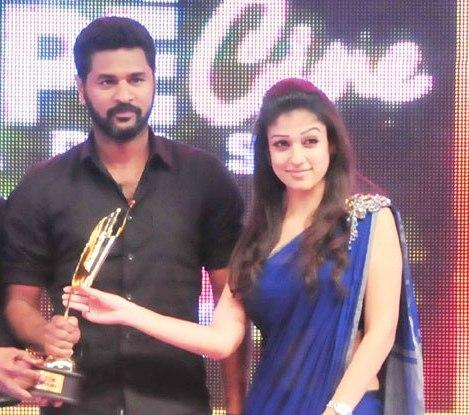 Nayanthara and Prabhu Deva at South Scope Awards