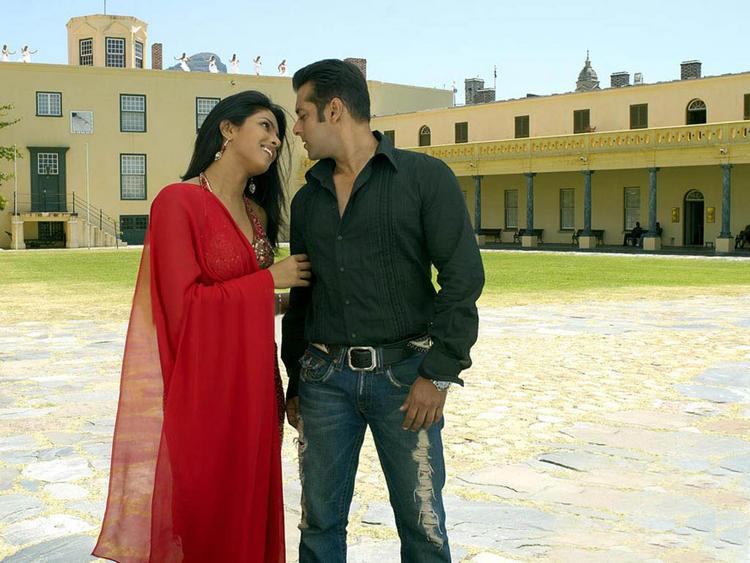 Priyanka Chopra with Salman Khan pics