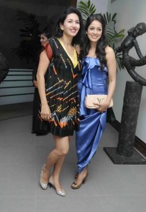 Vidya Malvade  in blue dress stills