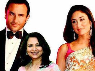 Sharmila Tagore with Saif ali khan and kareena kapoor