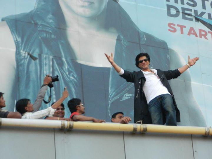 The one and only King Khan with Fans