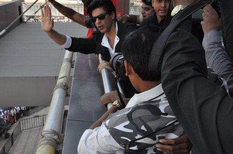 SRK About to Take off from Nagpur