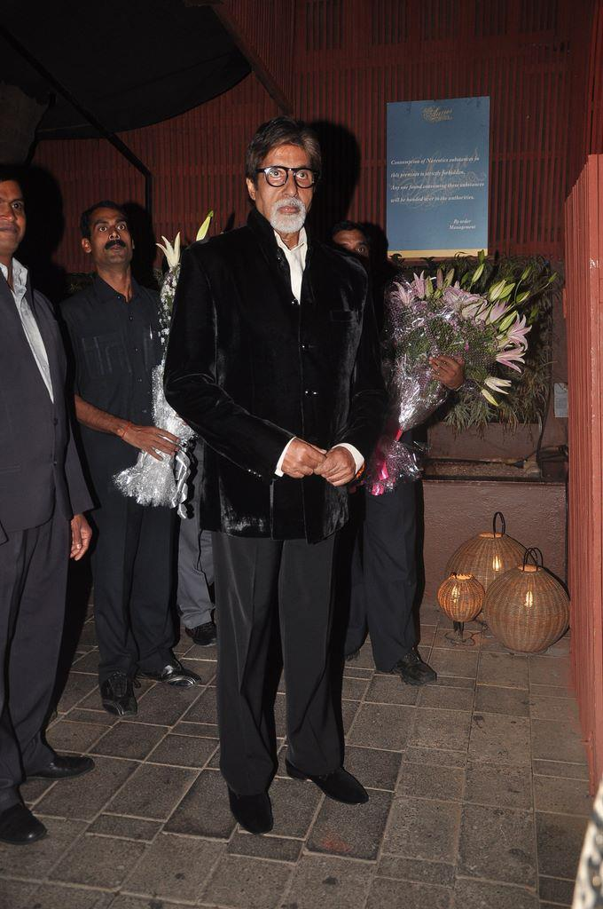 Amitabh Bachchan at Dirty Pictures Sucess Party