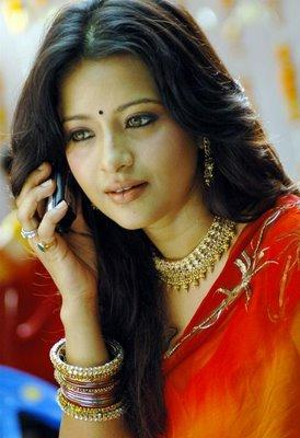 Reema Sen beautiful look in saree