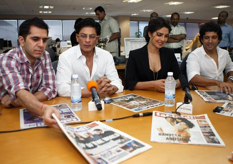 Shahrukh Khan, Priyanka Chopra, Farhan Akhtar addressing the press