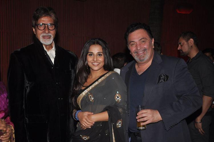 BIG B, Vidya Balan and Rishi Kapoor at Dirty Pictures Sucess Party