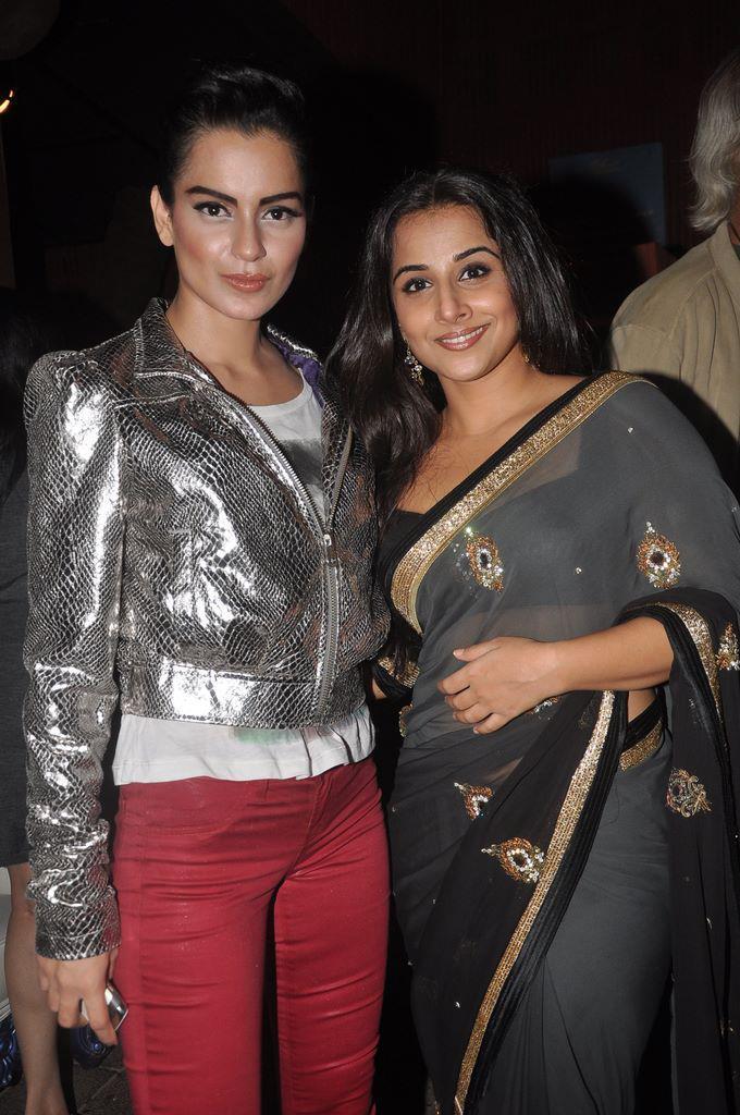 Kangna Ranaut and Vidya Balan at Dirty Pictures Sucess Party