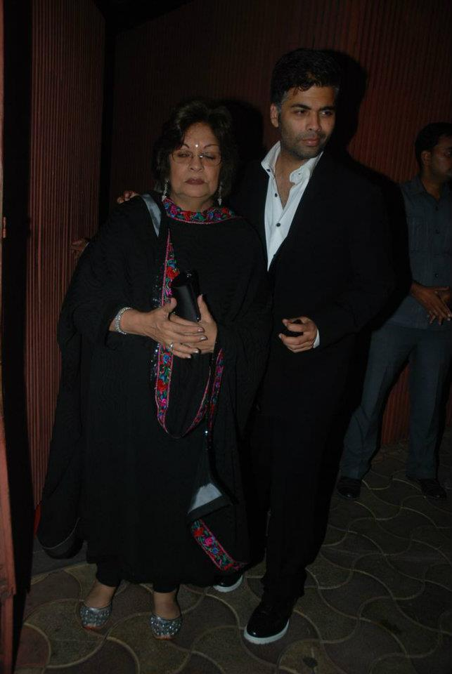 Karan Johar with Mom at Dirty Pictures Sucess Party