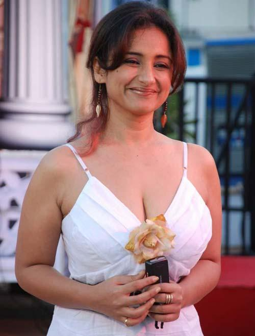 Divya Dutta cute hot in white dress