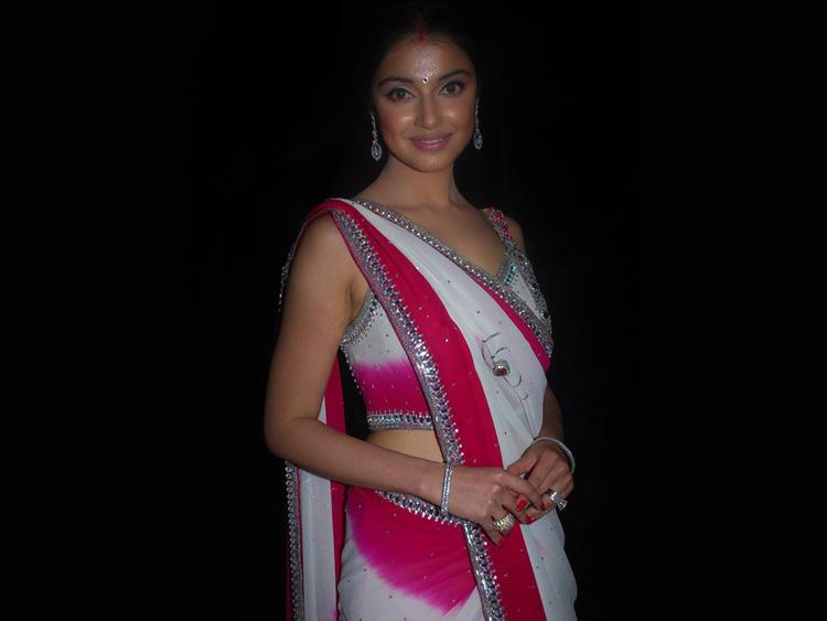 Divya Khosla sexy pose in saree