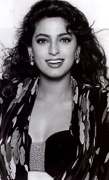 Black and white Juhi Chawla pics