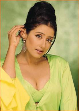 Manisha Koirala sexy cleavages wallpaper