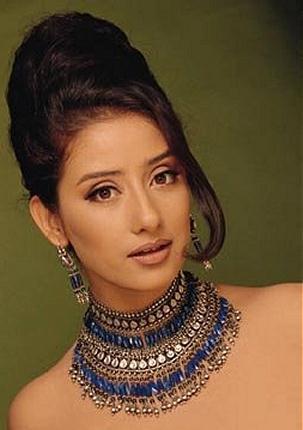 Manisha Koirala ht pose wearing beautiful nacklace