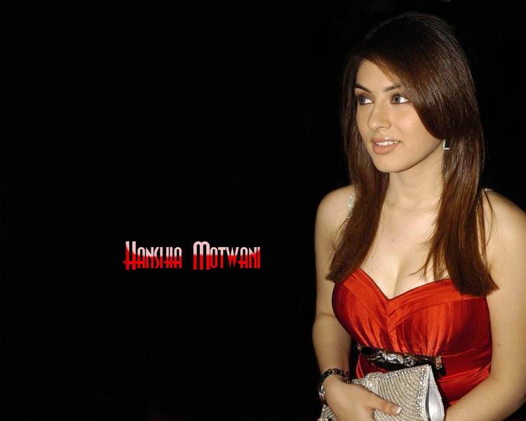 Hansika Motwani hot boob show wallpaper