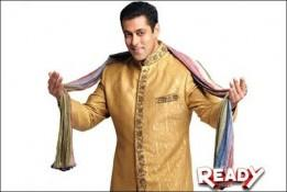 Salman khan with wedding dress in ready