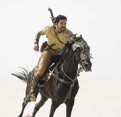 Ram charan teja action stills in maaveeran movie