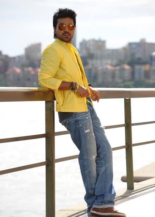 Ram Charan stylist images In Orange
