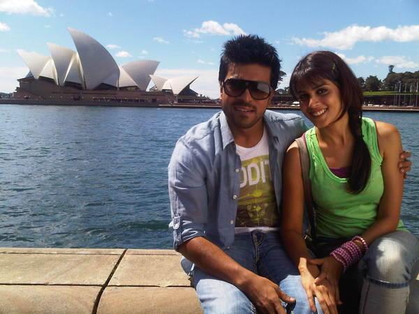 Ram Charan With Genelia hot photo